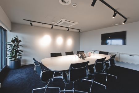 Modern conference room with TV