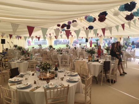 Traditional Marquee next to Loch