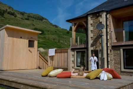 Carrick Castle Estate, Lodge & Barn Spa facilities including an outdoor hot tub and