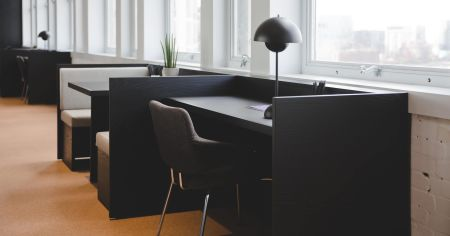 Comfortable lounge meeting space