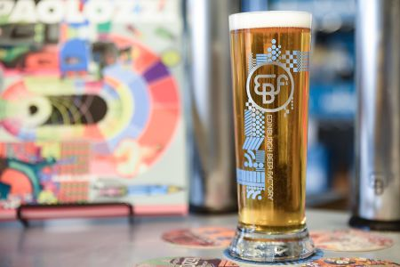 Brewery Taproom Paolozzi Lager - named after the Leith born Artist, Eduardo Paolozzi