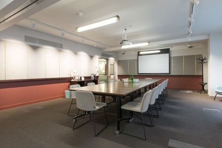 Modern Boardroom with Projector