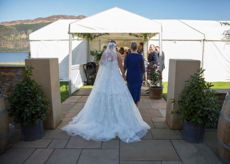 Traditional Marquee next to Loch The Wedding Ceremony