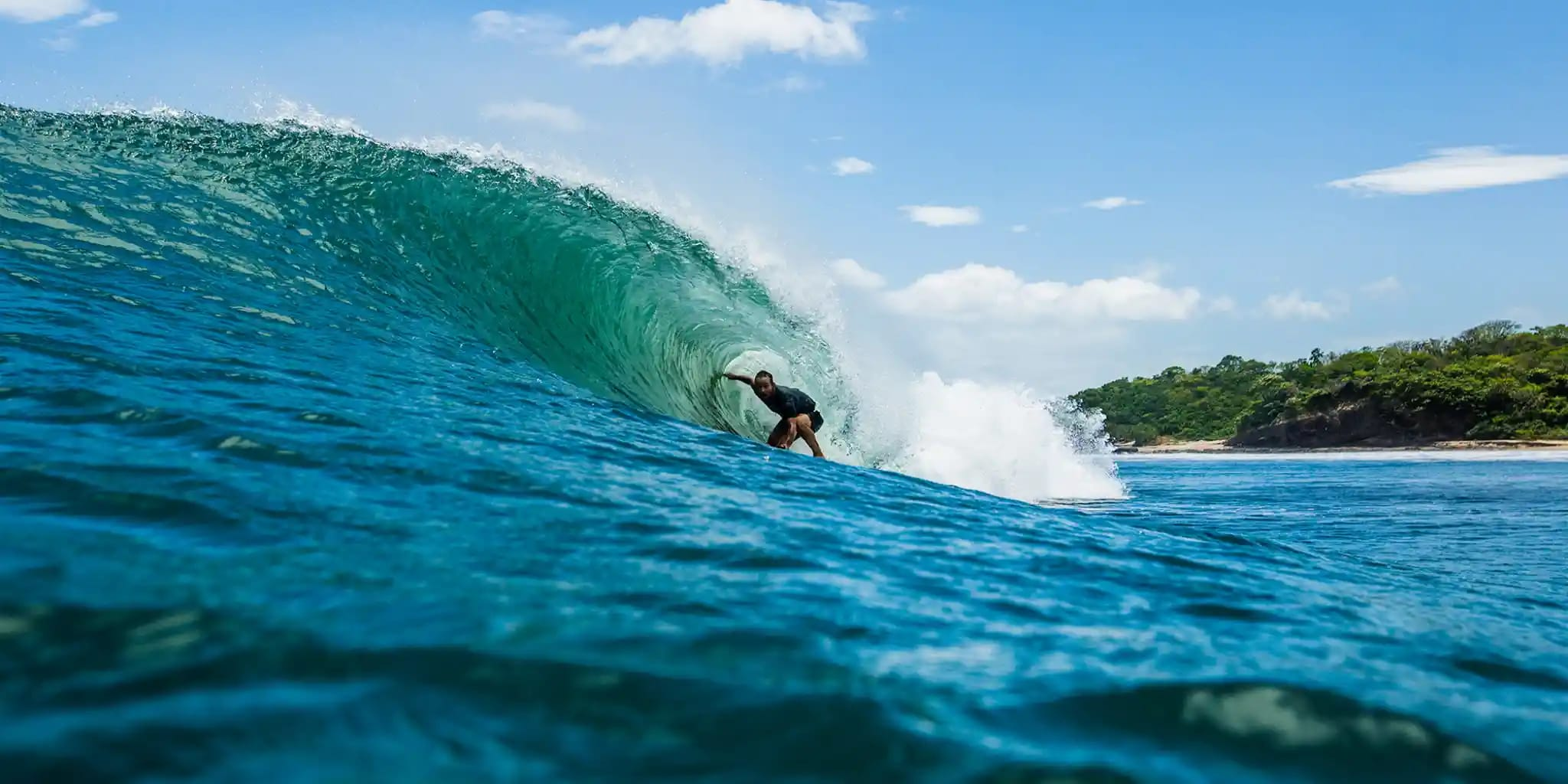 Surfing the Pacific side of Central America.