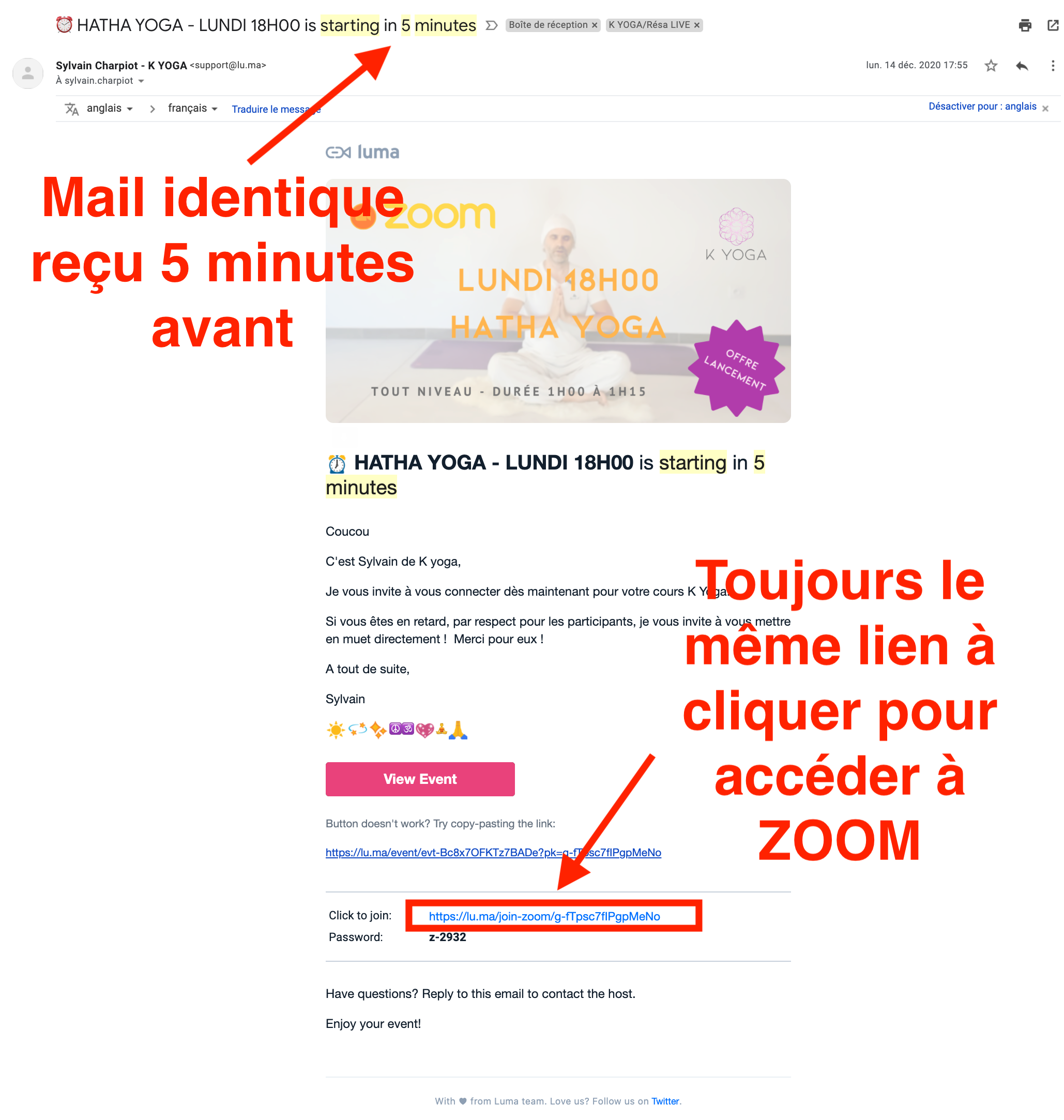 Email H-5min