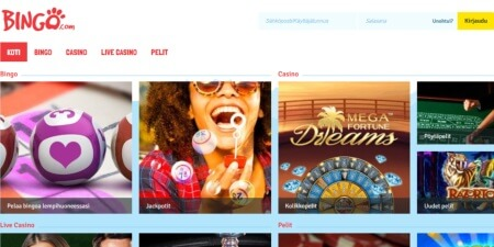 Bingo.com kotisivut