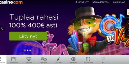 Casino.com kotisivut
