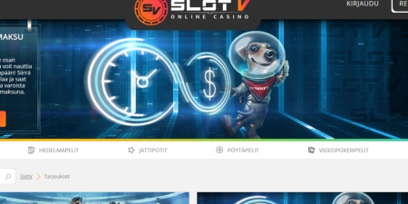 SlotV casino kotisivut