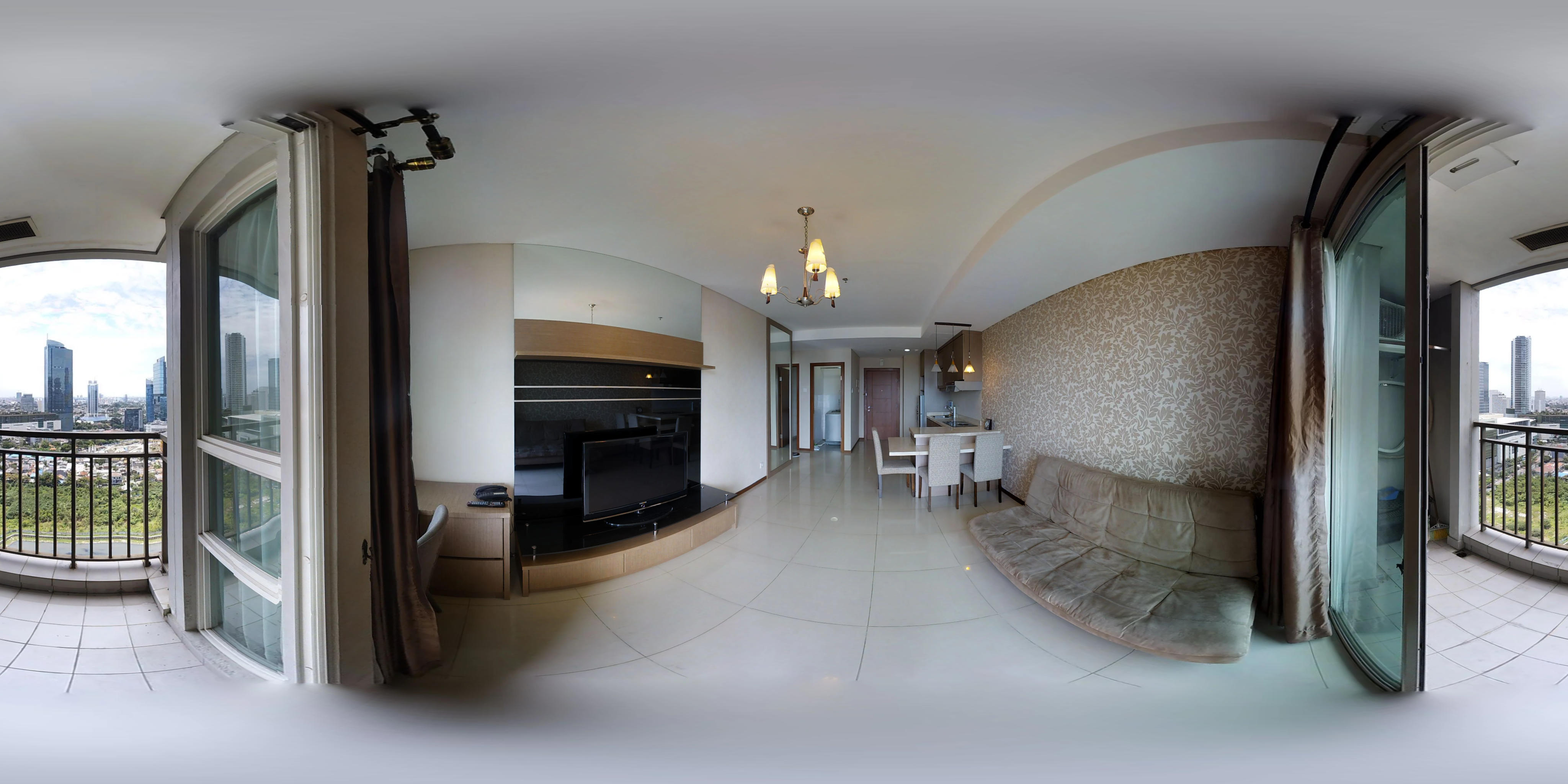 for rent Thamrin Residences - 2 bedroom with extra room and double view
