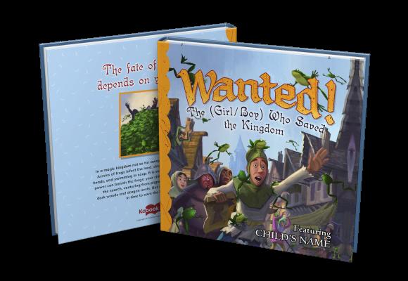 wanted custom childrens book