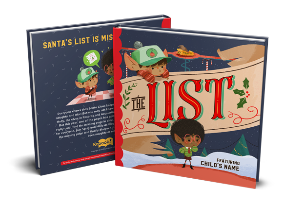 the list kabook custom childrens book