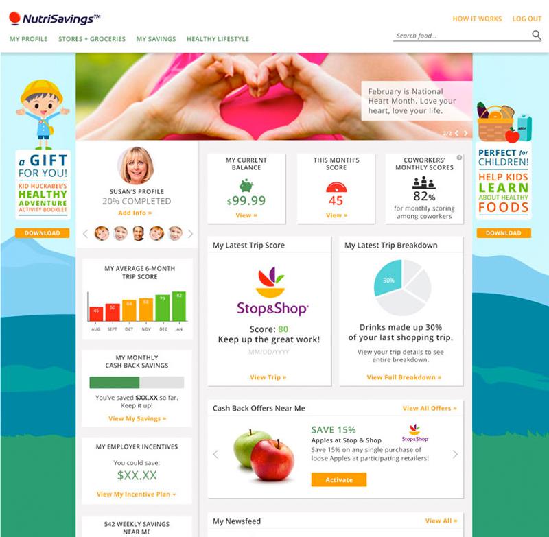 Design, Development: NutriSavings Product Site