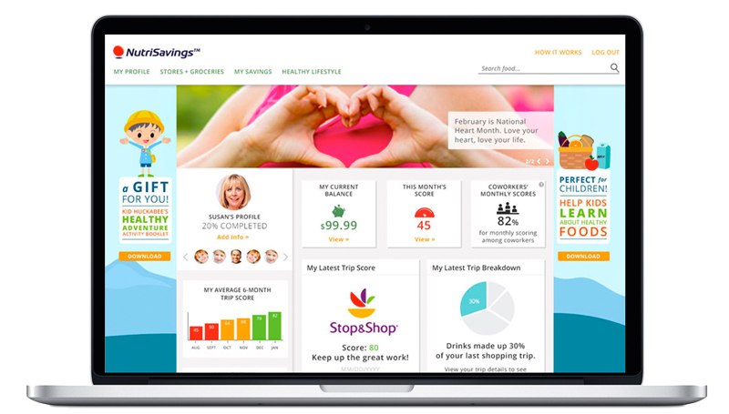 Design, Development: NutriSavings Product Site