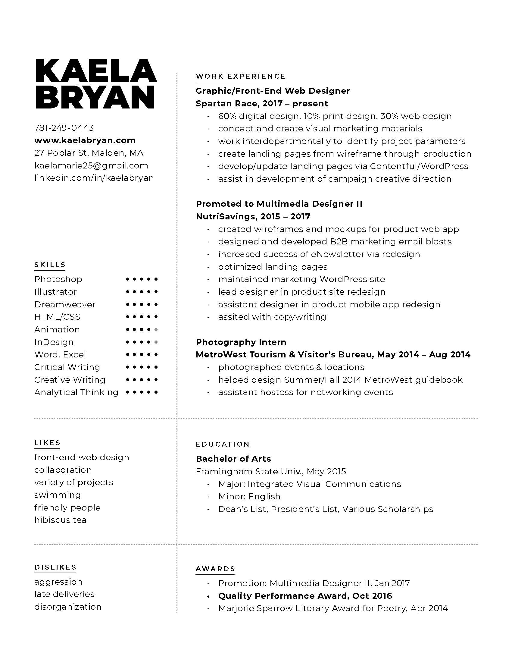 Kaela Bryan - Resume