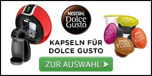 Unsere Auswahl an Kaffeekapseln für Dolce Gusto