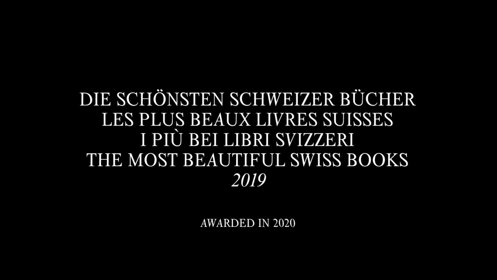 Most Beautiful Swiss Books 2020 - © Kairos Studio