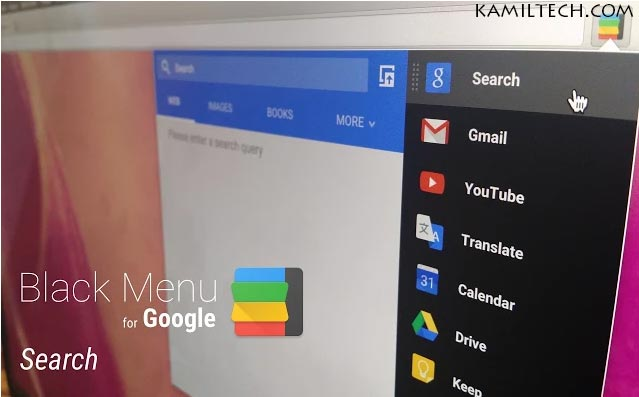 Black Menu For Google Chrome | kamiltech.com