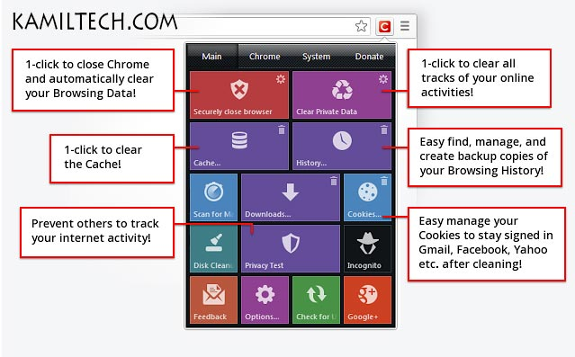 Click&Clean for Google Chrome | kamiltech.com