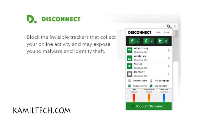Disconnect for Google Chrome | kamiltech.com