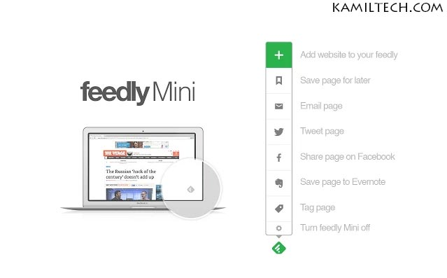 Feedly for Google Chrome | kamiltech.com