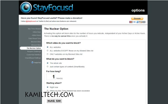 Stayfocusd for Google Chrome | kamiltech.com