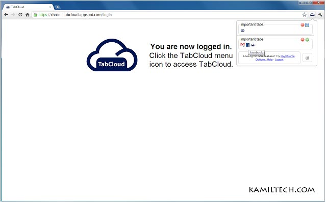 TabCloud for Google Chrome | kamiltech.com