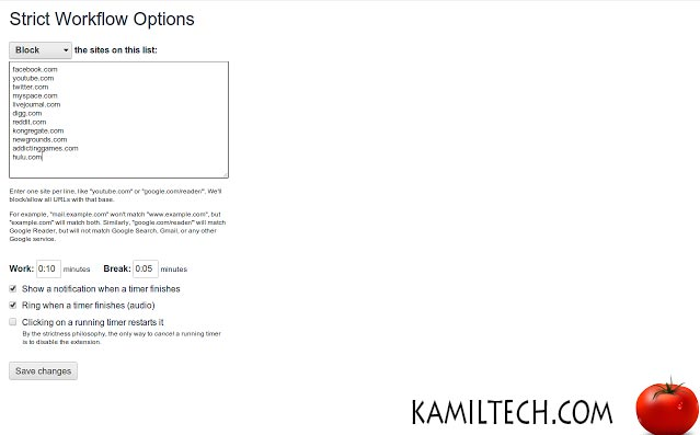 Strict Workflow for Google Chrome | kamiltech.com
