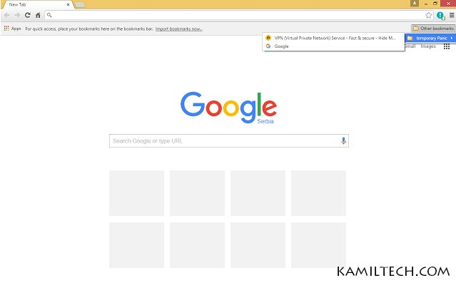 Panic Button for Google Chrome | kamiltech.com