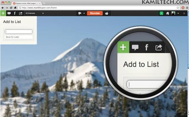 StumbleUpon for Google Chrome | kamiltech.com