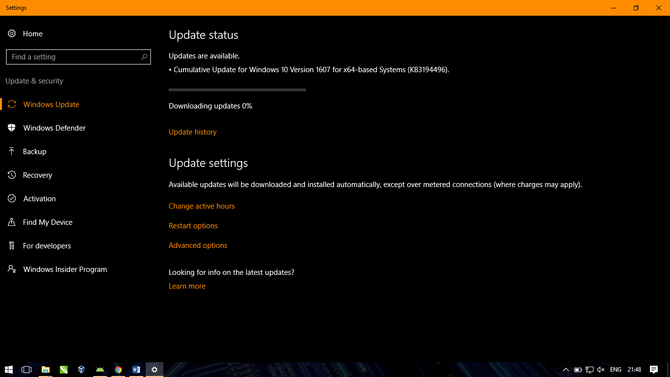 Windows 10 update upgrade latest build kamil kamiltech