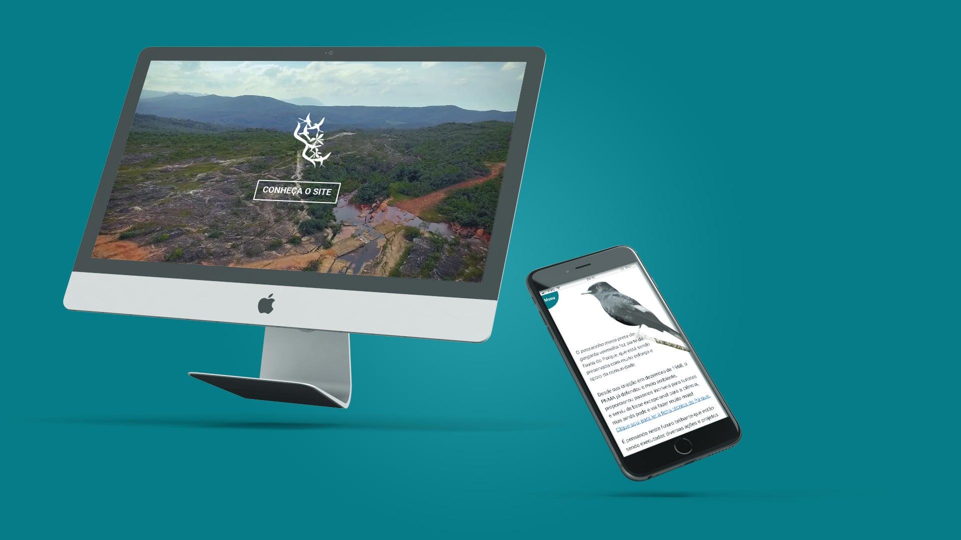 Imagem do projeto de Web Design para Parque das Andorinhas