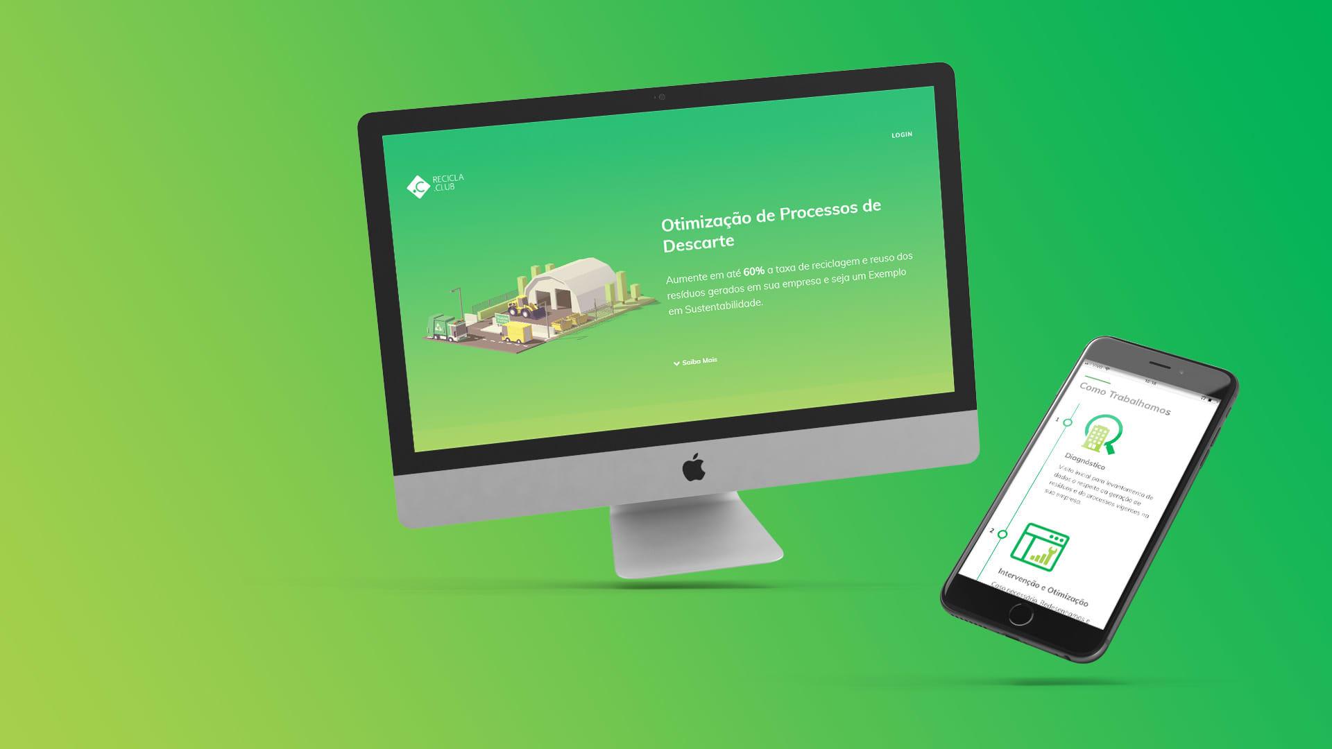 Imagem do projeto de Web Design para Recicla.Club