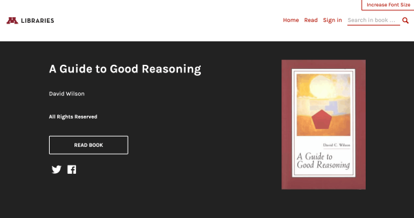 Screenshot of A Guide to Good Reasoning eBook