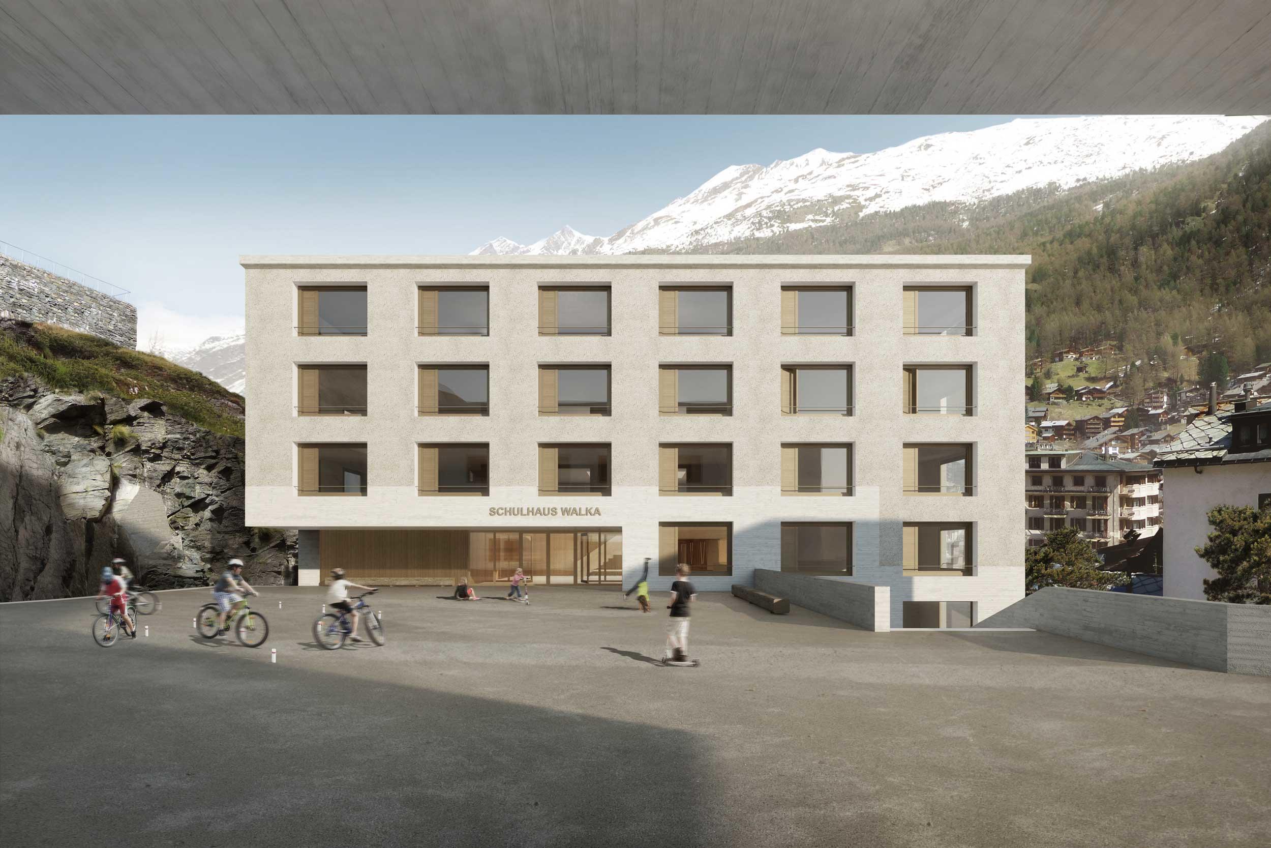 Giuliani Hönger Schulhaus Zermatt 1