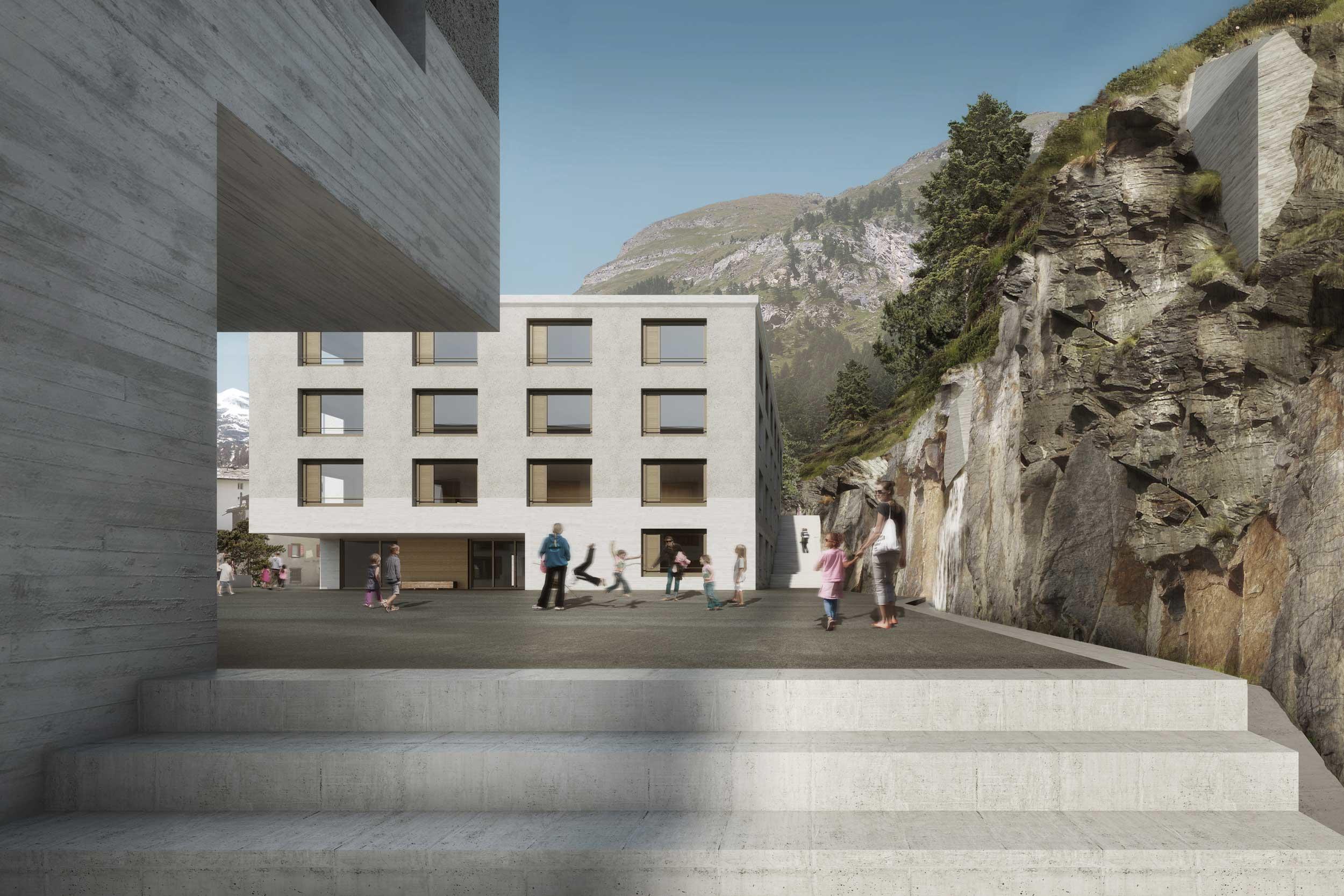 Giuliani Hönger Schulhaus Zermatt 2