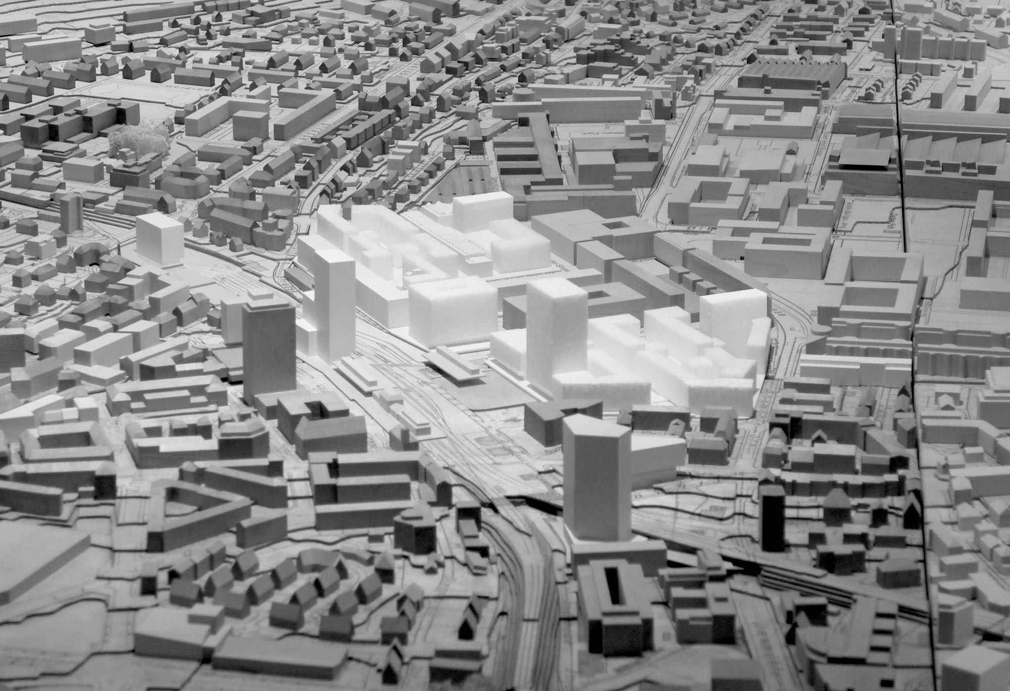 Giuliani Hönger Studie Oerlikon Stadtmodell 1