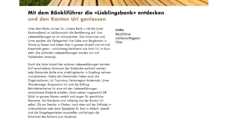 Urner Kantonalbank Unser Uri