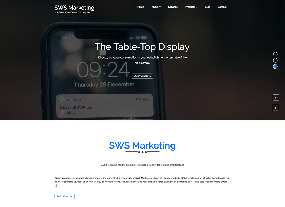 sws-marketing-website-kaskade
