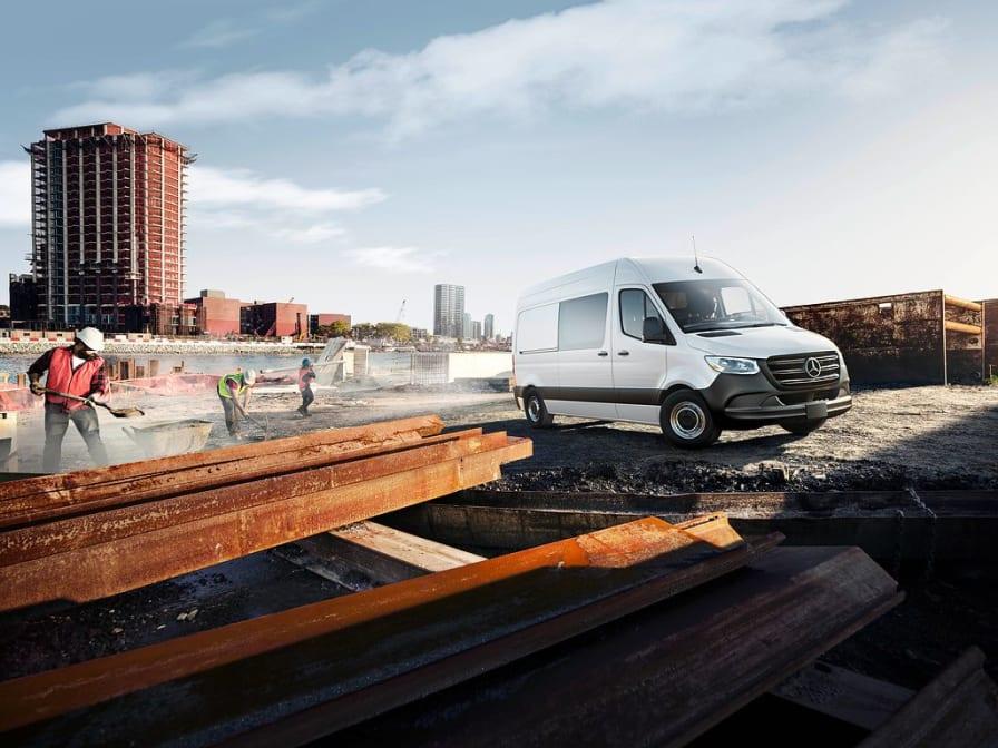 Mercedes Sprinter på byggeplads