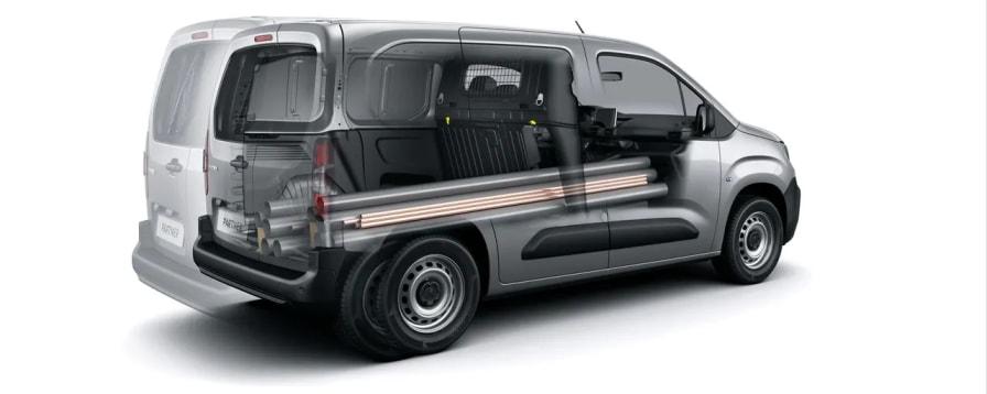 Moduwork med luge i Peugeot Partner