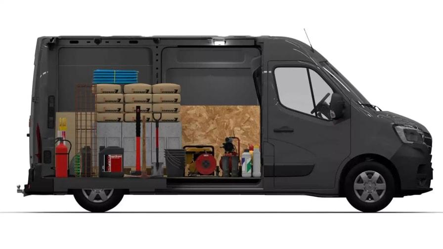 Renault Master med vare i lastrummet