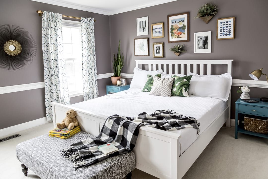modern boho master bedroom 1