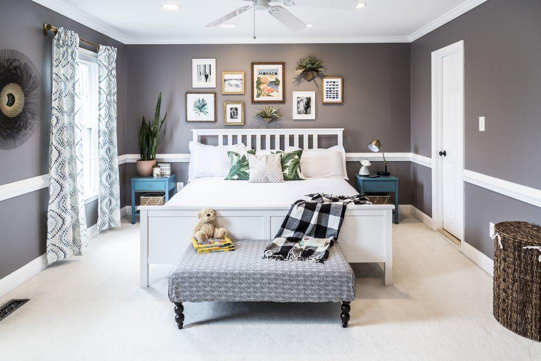 modern boho master bedroom 2
