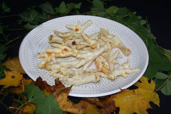 Hühnerkralle weiß gepufft 100% Natur
