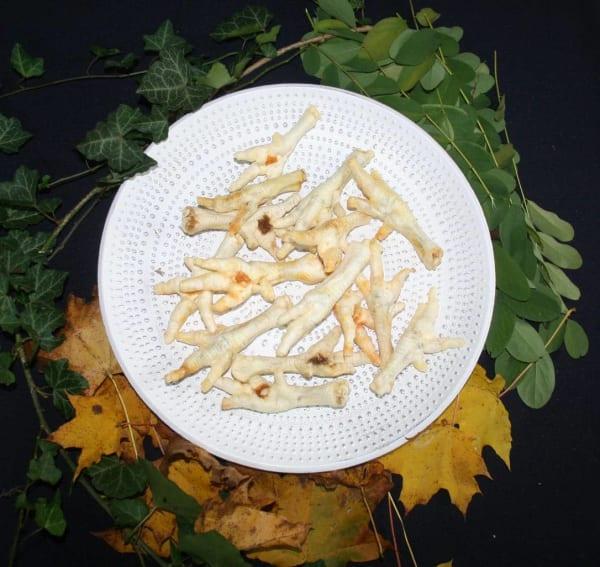 Hühnerkralle weiß gepufft 100% Natur3