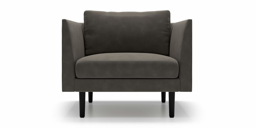 Awesome Lucia Armchair In Fabric Falcon Grey Ideas - Simple Elegant modern grey chair Lovely