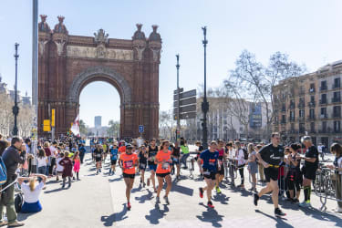 Marathon de Barcelone - Arc de Triumf