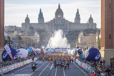Marathon de Barcelone - Départ