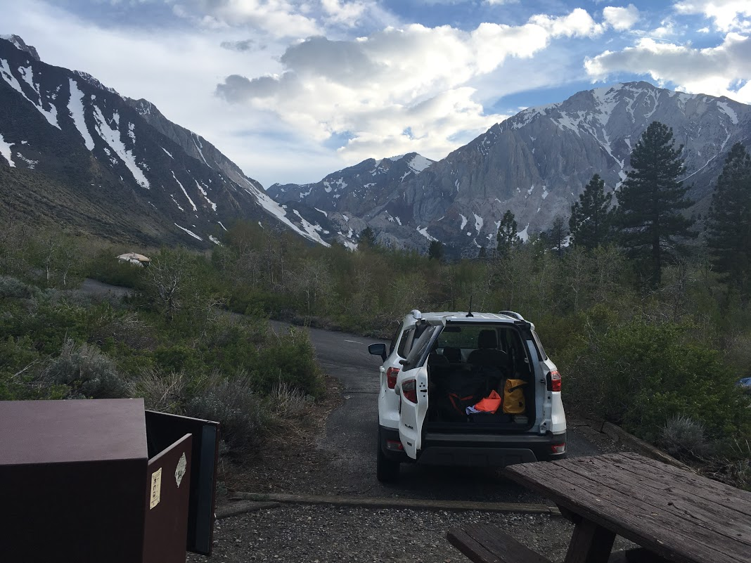 Camping at Convict Lake.