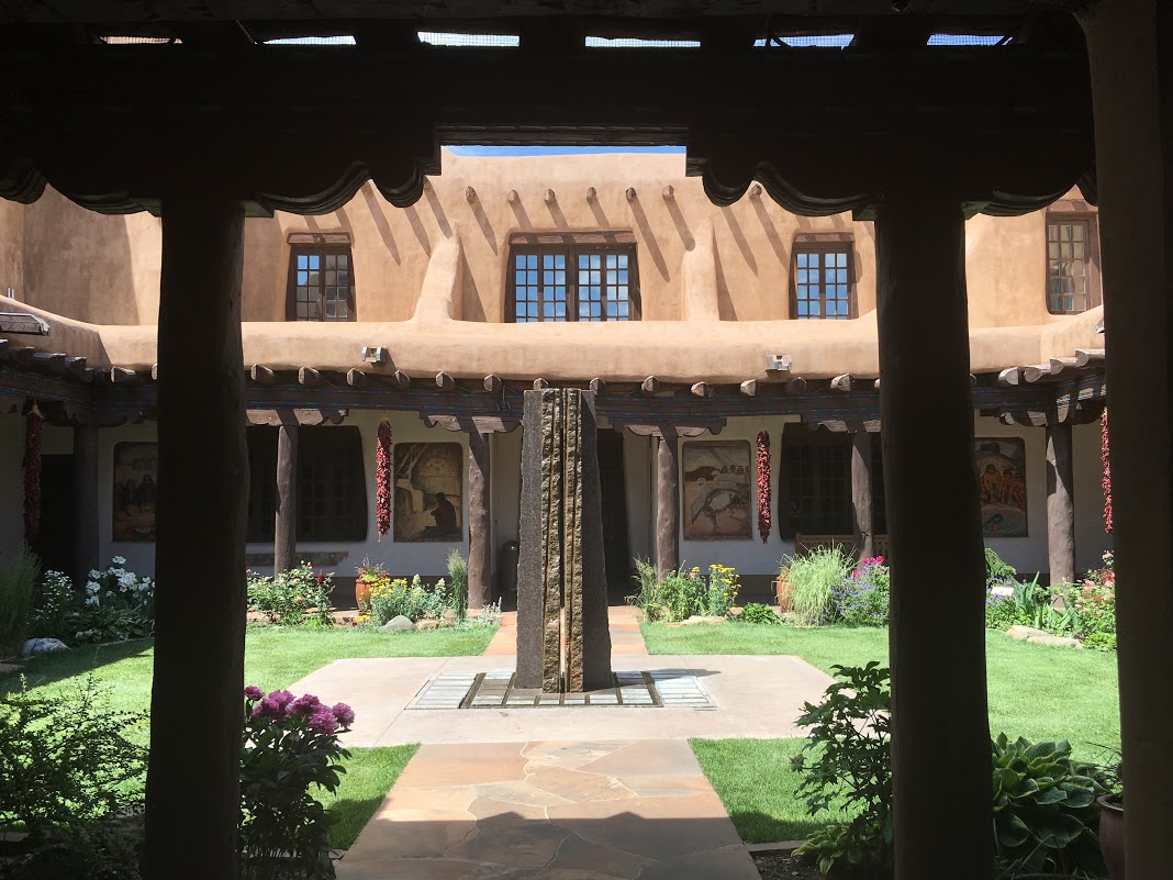The museum's courtyard.